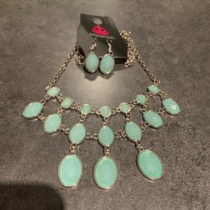 Teal Necklace & Earrings Set